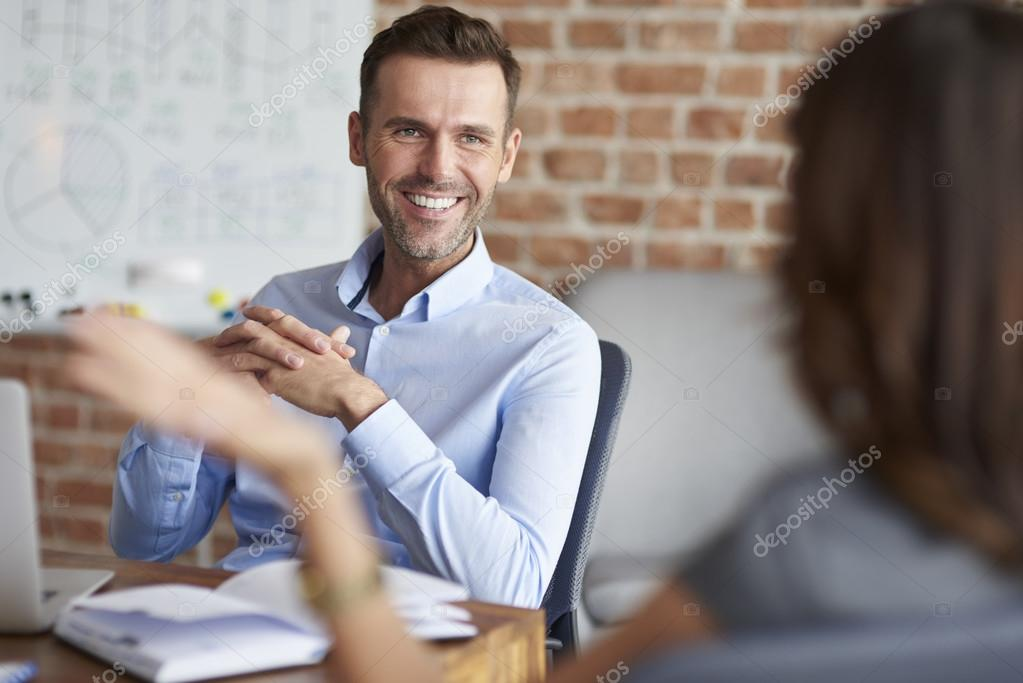 Job interview in the company